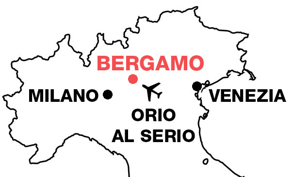 cartina itali bergamo guide